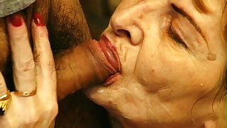 hairy 82 year old grandma rough fucked by her young toyboy