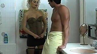 Rebecca Bardoux, T.T. Boy, Micky Lynn in classic xxx scene